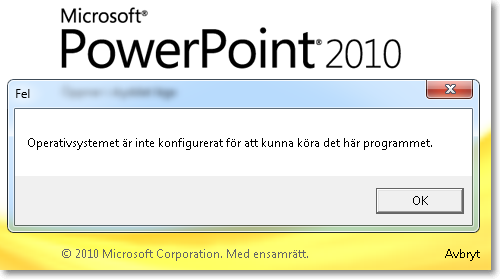 PowerPoint vs Windows