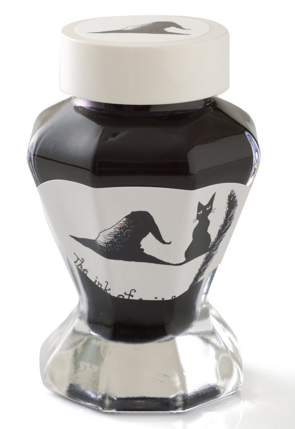 Bungbox The ink of Witch, Original bottled ink for fountain pens, 50ml, Dark purple, Blackish-purple